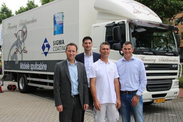 Op de foto met de mannen van Sigma