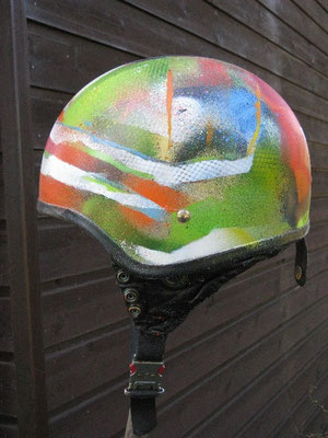 Motorradhelm, streetart, Spray, can, cab,