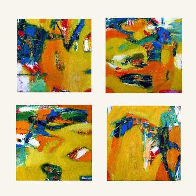AOB PAKG 1 -4 4- teilig Acryl auf Leinwand 2007