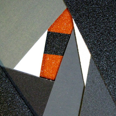 Sandpapier, Schmirgelpapier, Reibungsfelder, black, white orange, emery, sandpaper