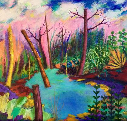 Acrylique sur toile: 40x40cm