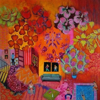 Acrylique sur toile: 60x60cm