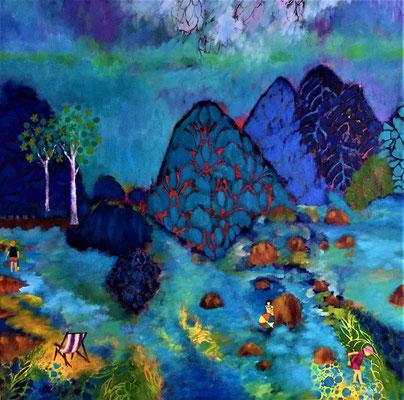 Acrylique sur toile: 80x80cm
