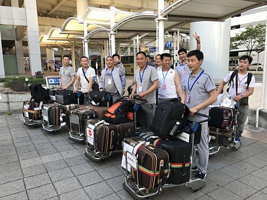 関西空港到着