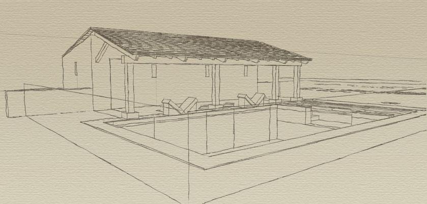 Projet de piscine façon lavoir Belmont Sainte Foi 2013