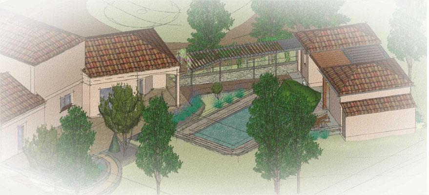 Aménagement piscine et abris paysager Lalbenque 2017