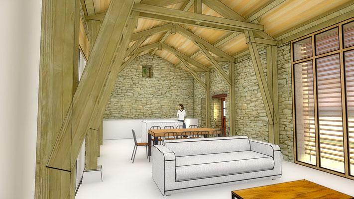 habiter une grange architecte lalbenque