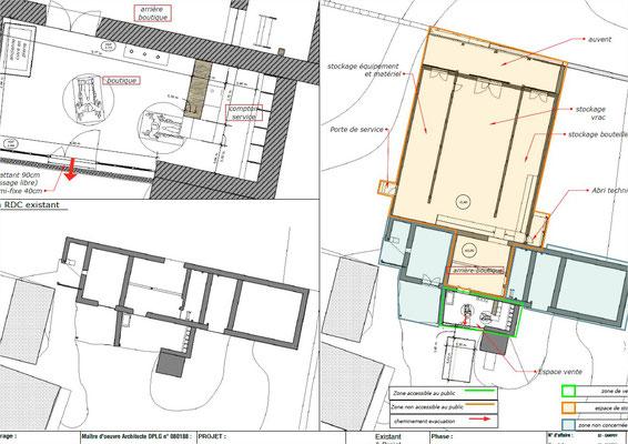 ERP boutique architecte Lalbenque Lot Quercy