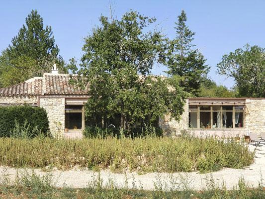 extension bioclimatique sur grange rénovation architecte lalbenque