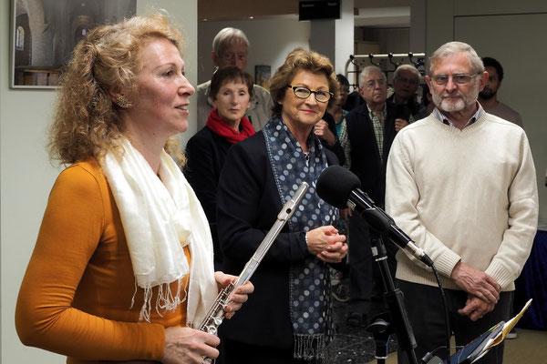 Cordelia Loosen-Sarr, Bürgermeisterin Renate Offergeld, Dieter Mehlhaff