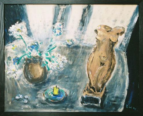 STILLLEBEN MIT TORSO - Acryl 2005 40x50