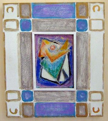 BESCHEIDENE BLÜTE - Acryl 2005 21x21