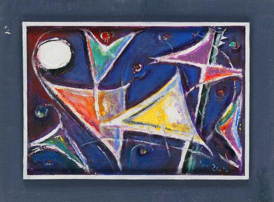 GARTEN DER SEGEL - Acryl 2006 30x40