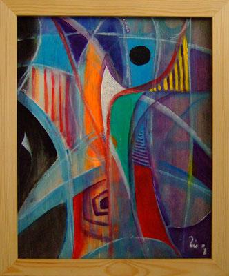 ENTWURF EINER BLÜTE - Acryl 2008 50x40