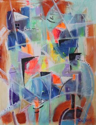 OPTIMISTISCHER ORDNUNGSVERSUCH - Acryl 2016 90x70