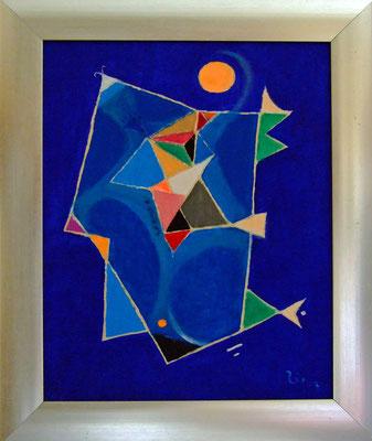 ERSCHEINUNG IN BLUE - Acryl 2007 25x20