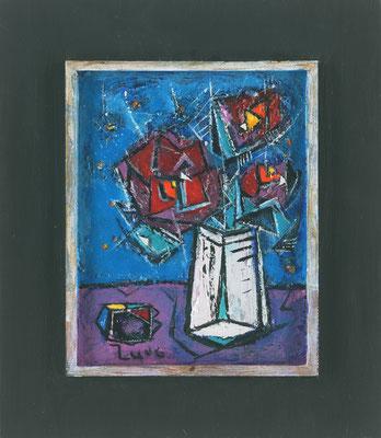 "STILLLEBEN MIT ""BURG""KERAMIK - Acryl 2006 23x21"