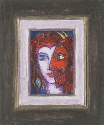 SELTSAMES PAAR - Acryl 2005 20x25