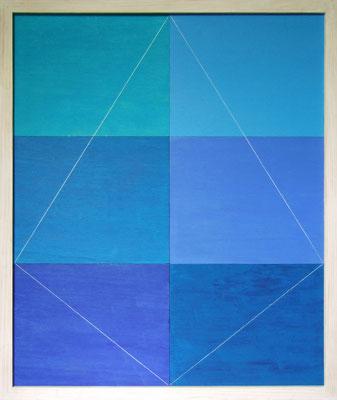 BLAUE PYRAMIDE - Acryl 2007 75x60