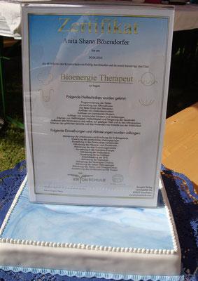 SHANA-Lichtpionier der Neuen Zeit e.U./Mein Bioenergie-Therapeut-Zertifikat seit 2010