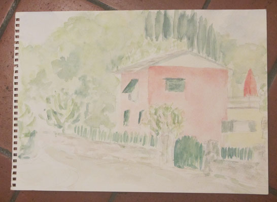 2012 Cinque Terre Nr. 180 25x34 Das rosa Haus