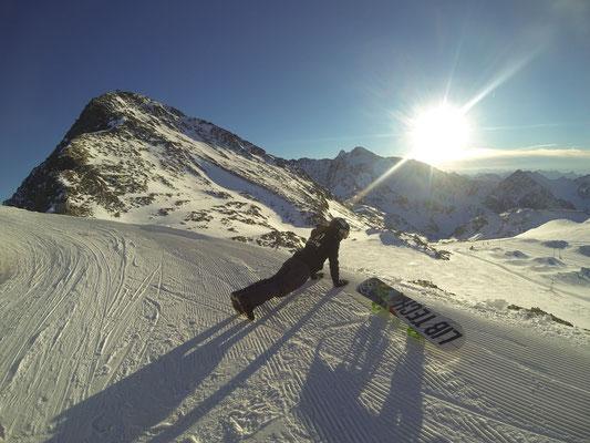 warmup Stubaier Gletscher