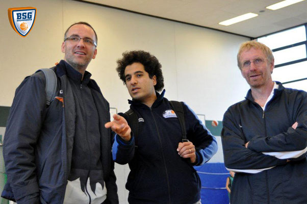Coaches Nedim Hizliates, Hamed Attarbashi und Rolf Jacob