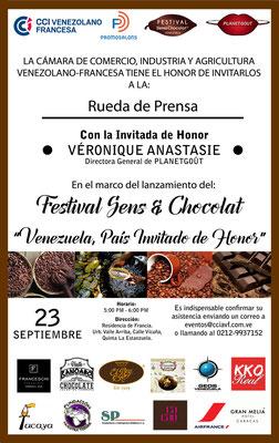 ACCUEIL Véronique ANASTASIE  INVITE AU VENEZUELA lancement FESTIVAL