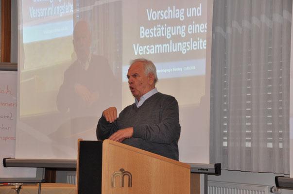 Rudolf Gast, der Tagungsleiter