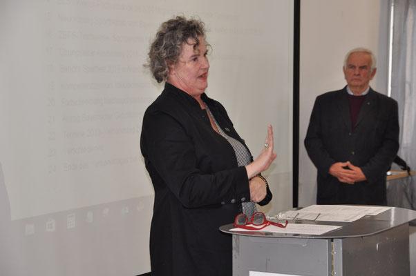 BGS Präsidentin Birgit Hermann-Payer und Tagungsleiter Rudolf Gast