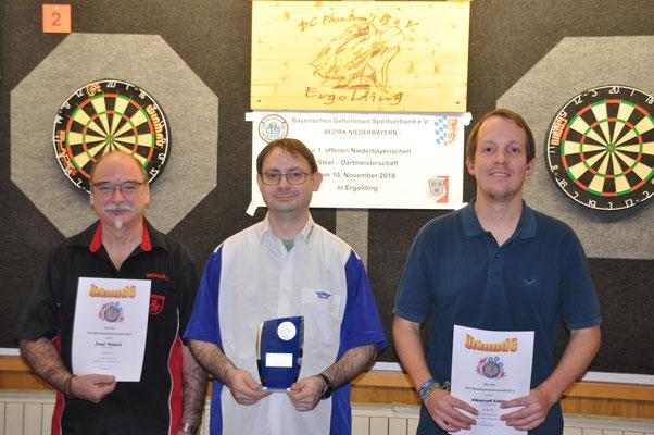 Das Siegertrio v.l. Josef Münich, Steve Schneider, Christoph Schill