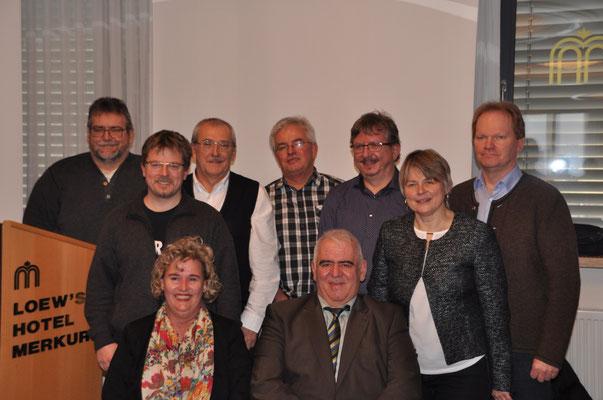 Das Präsidium des BGS mit Präsidentin Birgit Hermann-Payer und Ehrenpräsident Josef Scheitle (vorne sitzend)
