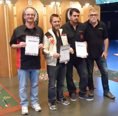 GSC Passau v.l. Jochen Urban, Bernhard Werth, Harun Akpinar u. BGS Fachwart Roland Seßler