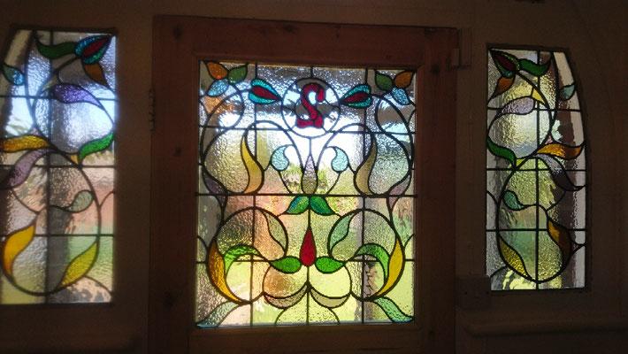 www.rossglassdesigns.com   leaded lights stained glass front door set