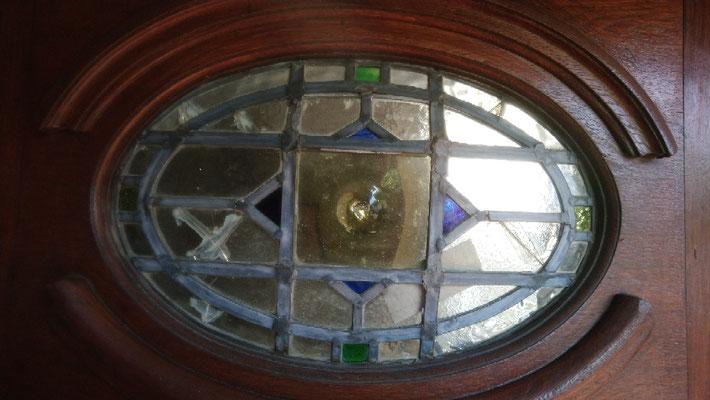 Before repair :Damaged lead and broken glass