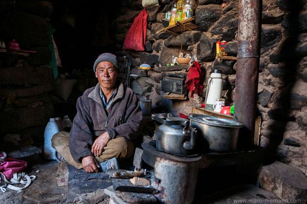 Shepherd in the Himalaya Mountains of Ladakh