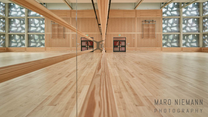 Dance hall in the new Gymnastics Hall Building · University of Potsdam