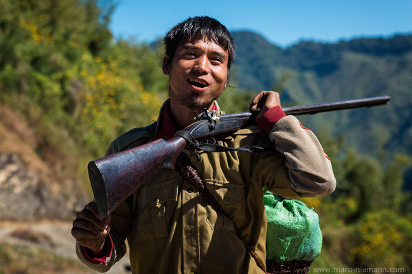 Bird Hunter - Konyak Tribe - Nagaland - India