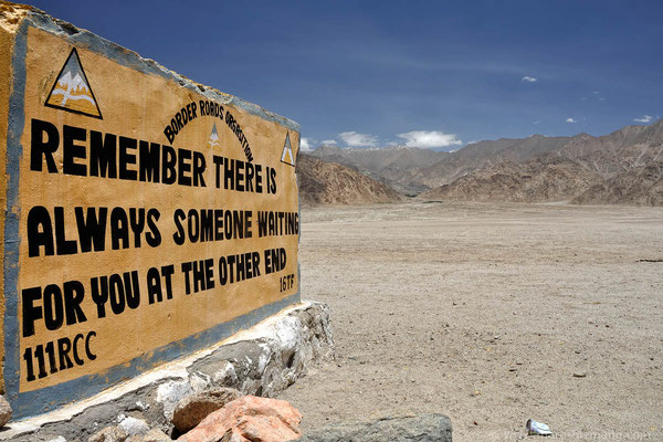 Poad Sign in Ladakh