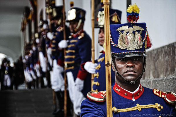 Granaderos de Tarqui, Guardians of the Presidential Palace - Ecuador