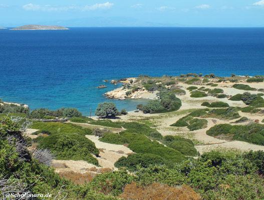 Blick auf den Mersini Strand