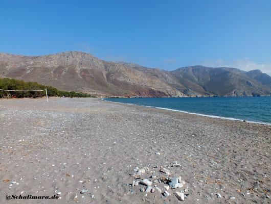Der Eristo-Strand von links