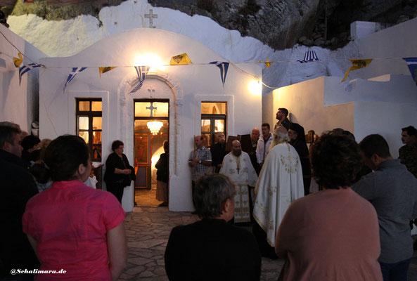 Die Höhlenkapelle des Klosters Agios Ioannis Theologos