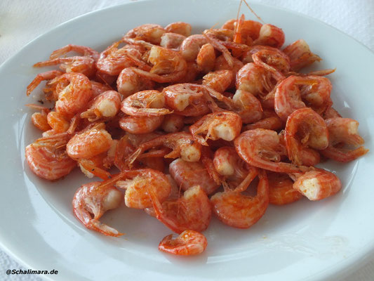 Shrimps mit Metaxa flambiert
