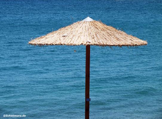 und es gibt freie Sonnenschirme