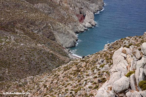Blick auf den Stavros Strand auf Tilos