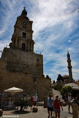 Der Uhrenturm in Rhodos-Stadt