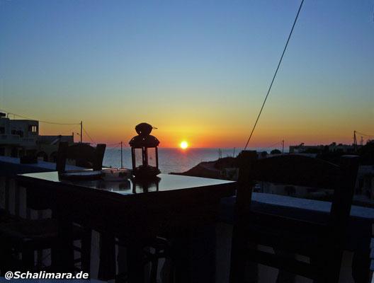 Sonnenuntergang an der Stema Bar
