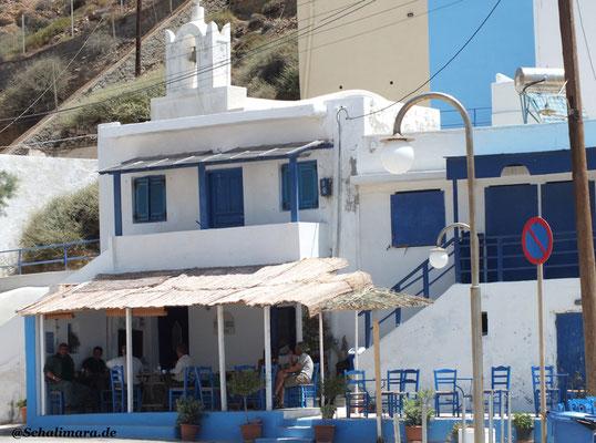 Das Café unterhalb der Hafenkapelle