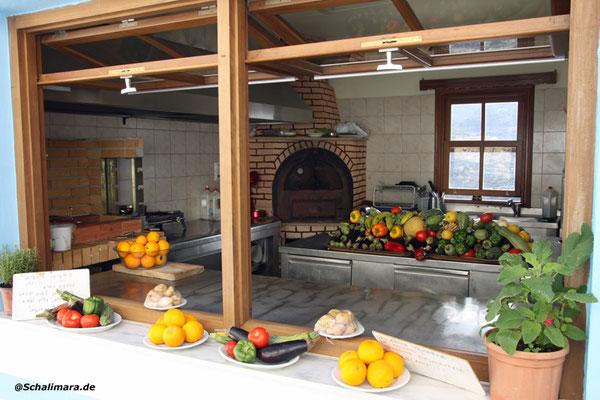 Blick in die Tavernenküche